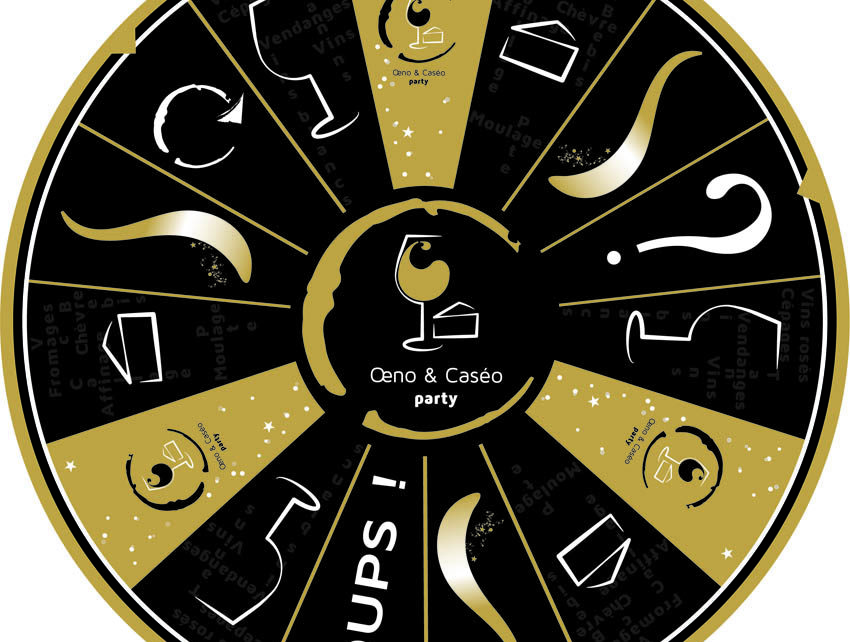 realisation du graphisme pour jeu vins et fromages de oeno&caseo