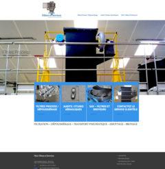 Site internet de P&A filtres et Services